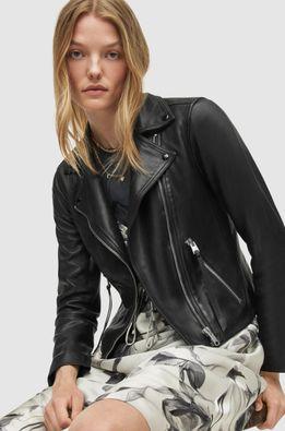 AllSaints - Kožená bunda Dalby Biker