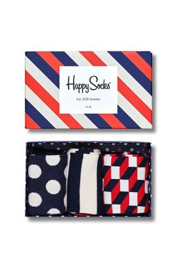 Happy Socks - Чорапи Gift Box (3-бройки)