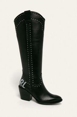 Karl Lagerfeld - Kožené čižmy
