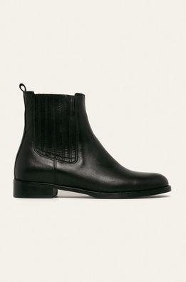 Badura - Kožené topánky Chelsea