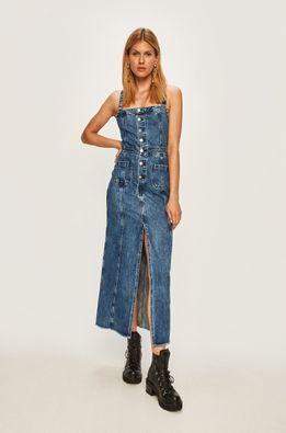 Pepe Jeans - Rifľové šaty Lottie x Dua Lipa