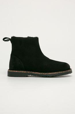 Birkenstock - Kožené členkové topánky Melrose Shearling