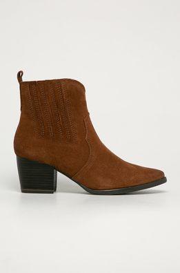 Marco Tozzi - Semišové kovbojské topánky