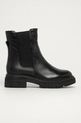 Marco Tozzi - Kožené kotníkové boty
