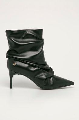 Love Moschino - Kožené členkové topánky
