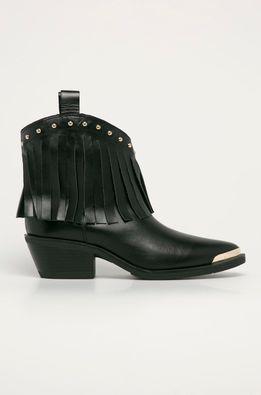 Love Moschino - Kožené kovbojské topánky