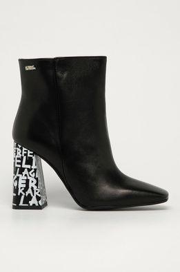 Karl Lagerfeld - Kožené členkové topánky