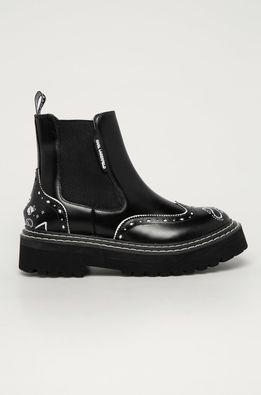 Karl Lagerfeld - Kožené topánky Chelsea