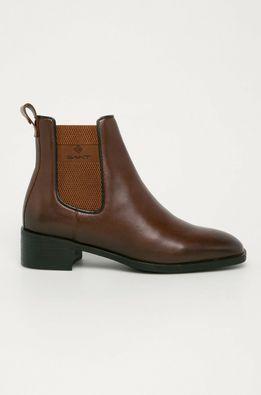 Gant - Kožené topánky Chelsea Dellar