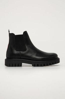 Tommy Hilfiger - Kožené topánky Chelsea