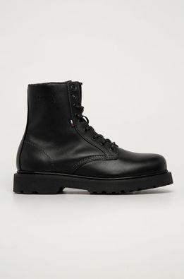 Tommy Jeans - Kožené členkové topánky