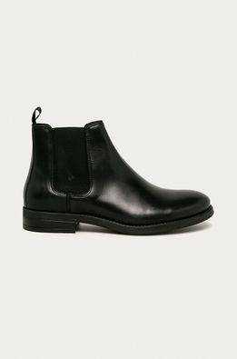 Jack & Jones - Kožené topánky Chelsea