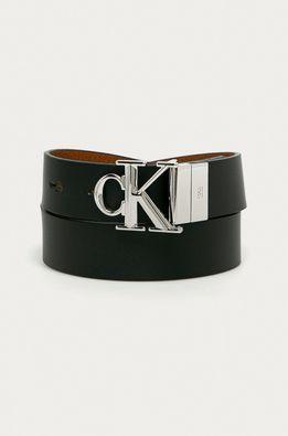Calvin Klein Jeans - Obojstranný kožený opasok