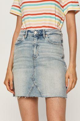 Tommy Jeans - Rifľová sukňa