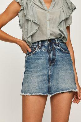 Pepe Jeans - Rifľová sukňa Rachel