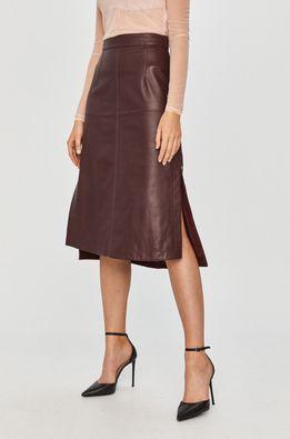Sportmax Code - Kožená sukňa
