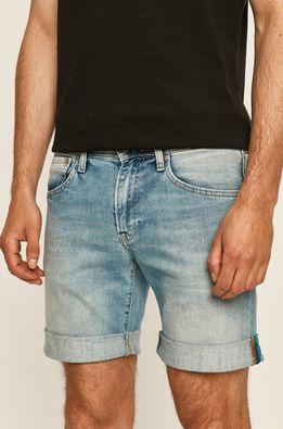 Pepe Jeans - Rifľové krátke nohavice Cane