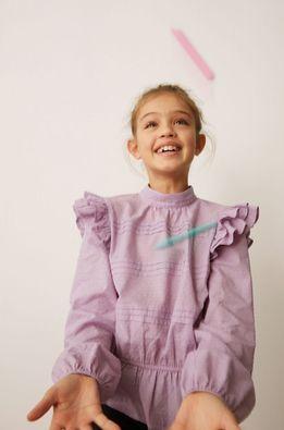 Mango Kids - Детска памучна блуза Yvette 116-164 cm
