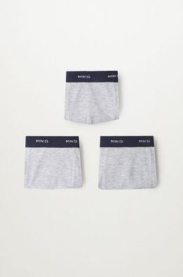 Mango Kids - Dětské boxerky Solidgri 116-164 cm (3-pack)