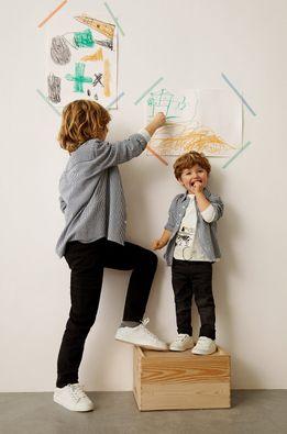 Mango Kids - Detská bavlnená košeľa Matcha 110-164 cm