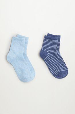 Mango Kids - Detské ponožky BLUE (2-pak)