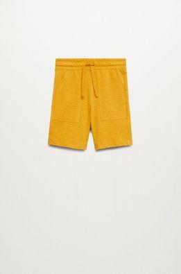 Mango Kids - Pantaloni scurti copii Slub8 110-164 cm