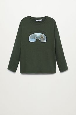 Mango Kids - Longsleeve copii ANIMAL
