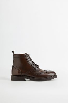 Mango Man - Кожени обувки Botinlig