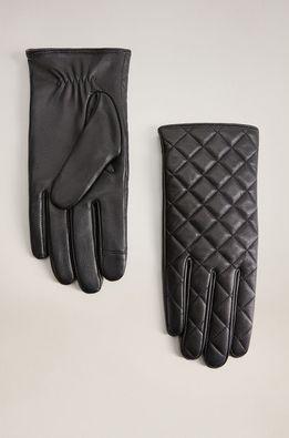 Mango - Kožené rukavice Quilted