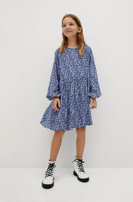 Mango Kids - Dívčí šaty BLUE