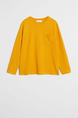Mango Kids - Detské tričko s dlhým rukávom Basic 110-164 cm