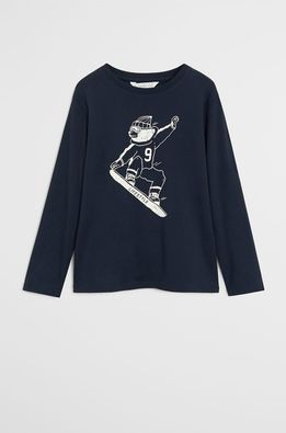 Mango Kids - Longsleeve copii Spencer 110-152 cm