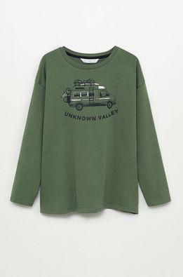Mango Kids - Detské tričko s dlhým rukávom Valley 110-152 cm