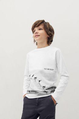 Mango Kids - Dětské tričko s dlouhým rukávem Photo 110-164 cm