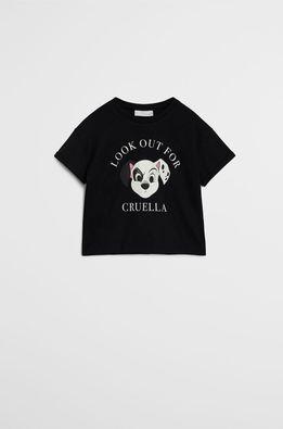 Mango Kids - Tricou copii Cruella 80-104 cm