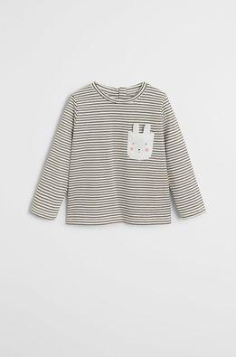 Mango Kids - Detské tričko s dlhým rukávom Cami 80-104 cm