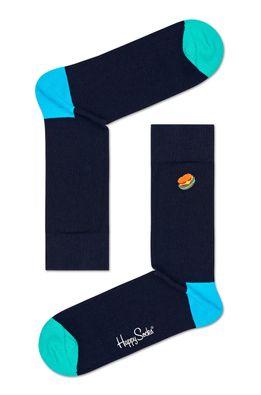Happy Socks - Ponožky Embroidery Hamburger Sock