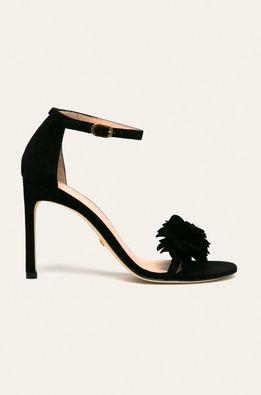 Stuart Weitzman - Kožené sandále Nudistsong Flower