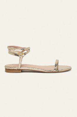 Stuart Weitzman - Kožené sandále Merinda Flat