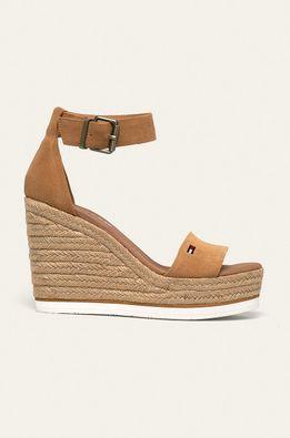 Tommy Jeans - Kožené sandále