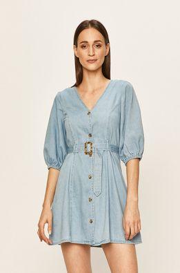 Vero Moda - Rifľové šaty