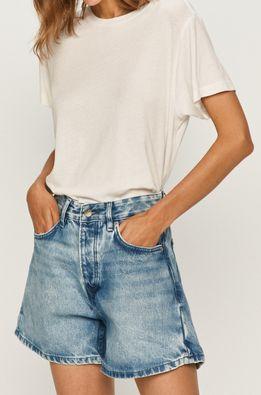 Pepe Jeans - Rifľové krátke nohavice Dua x Dua Lipa