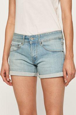 Pepe Jeans - Rifľové krátke nohavice Siouxie