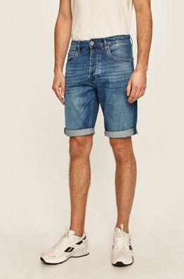 Pepe Jeans - Rifľové krátke nohavice Callen