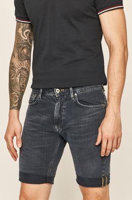 Pepe Jeans - Rifľové krátke nohavice Stanley