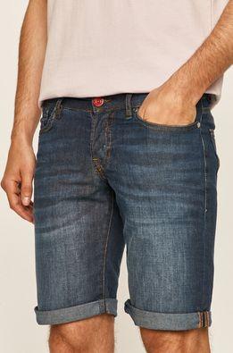 Guess Jeans - Rifľové krátke nohavice
