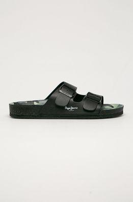 Pepe Jeans - Kožené pantofle Bio Buckles
