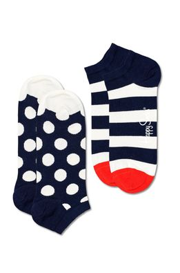 Happy Socks - Ponožky Big Dot Stripe Low (2-PACK)