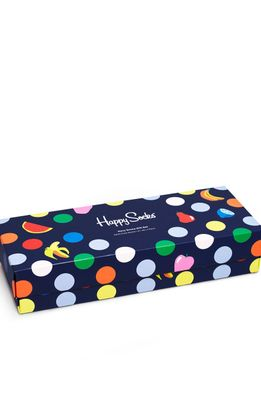 Happy Socks - Ponožky Navy Socks Gift Set (4-PACK)