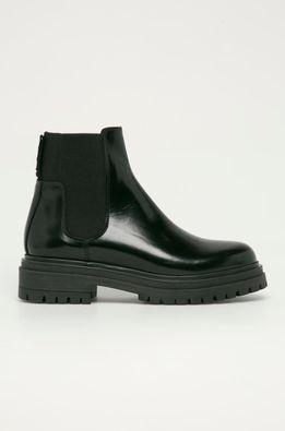 Hugo - Kožené topánky Chelsea